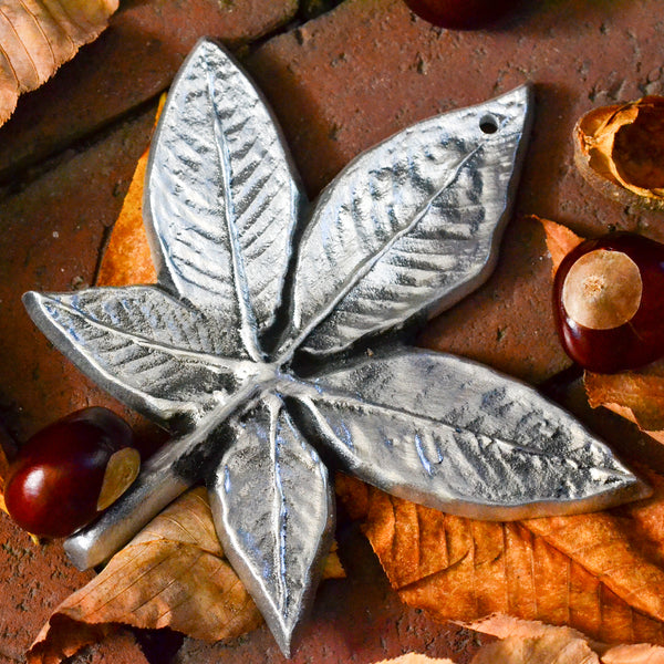 NEW! Small Buckeye Leaf Wall Hanging