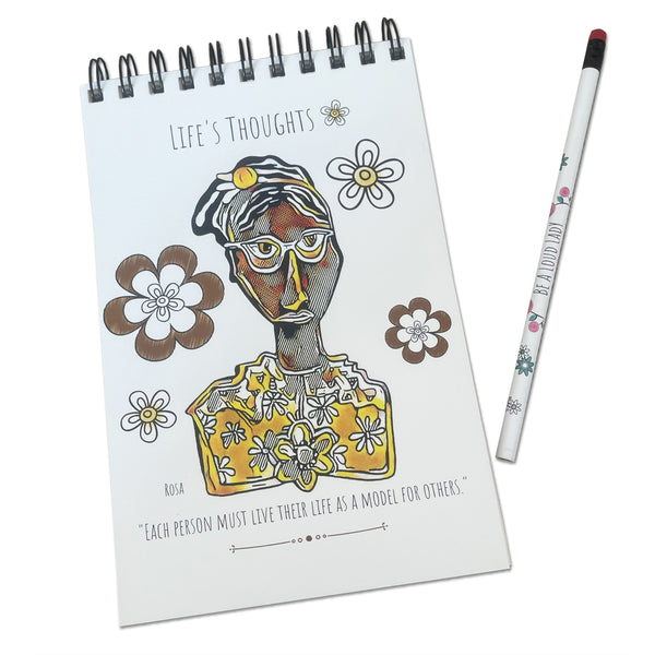 "E. Drumm Designs ""Rosie"" Notebook"