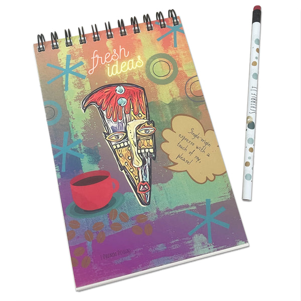 "E. Drumm Designs ""Espresso Rufus"" Notebook"