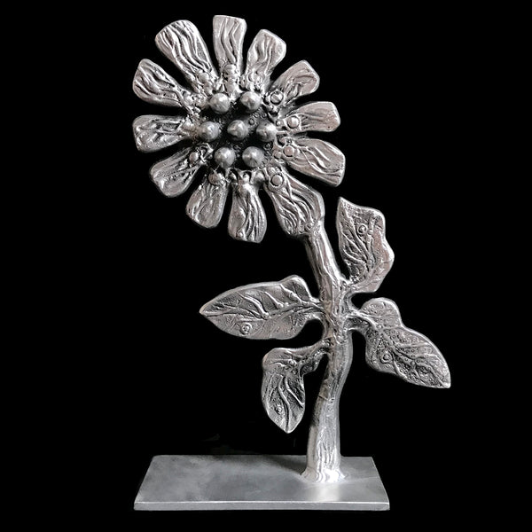 Don Drumm Flower Sculpture On Base