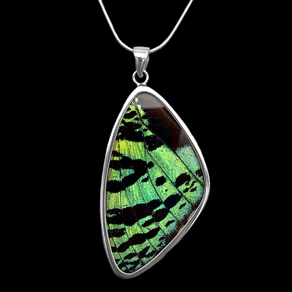 Butterfly Artworks Extra Large Speckled Green Pendant
