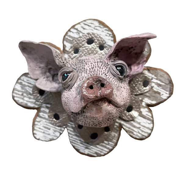 Halle McHenry Pig Wall Sculpture