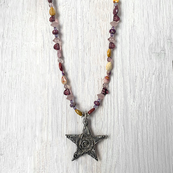 NEW! One of a Kind Mixed Jasper Beaded Necklace