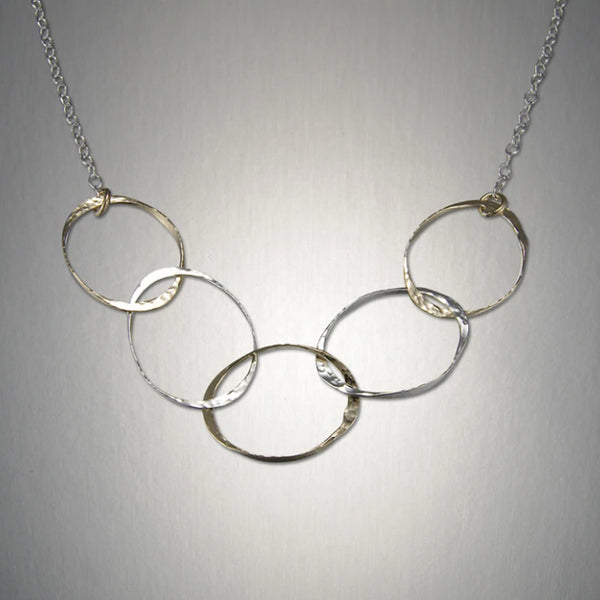 Peter James Five Ovals Chain Necklace