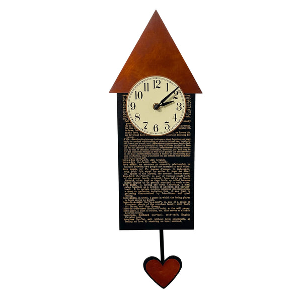 Love House Pendulum Clock