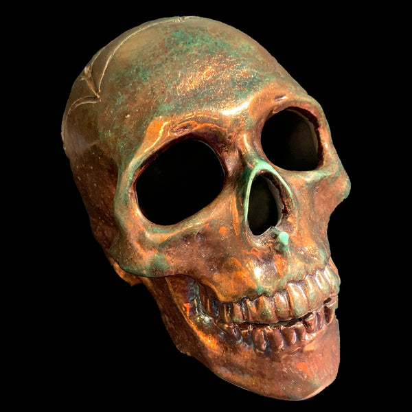 Jack Valentine Raku Skull with Carved Design