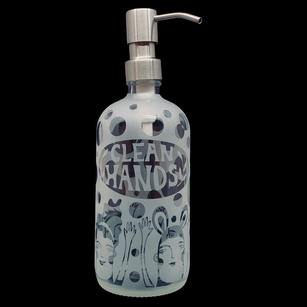 "Leandra Drumm ""Clean Hands"" Soap/Sanitizer Dispenser"