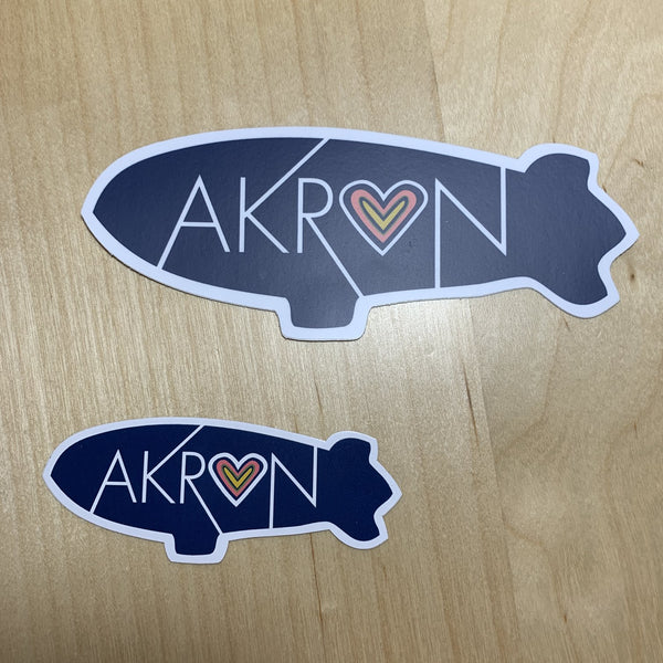 "Lovely Somethings ""Akron"" Blimp Sticker"