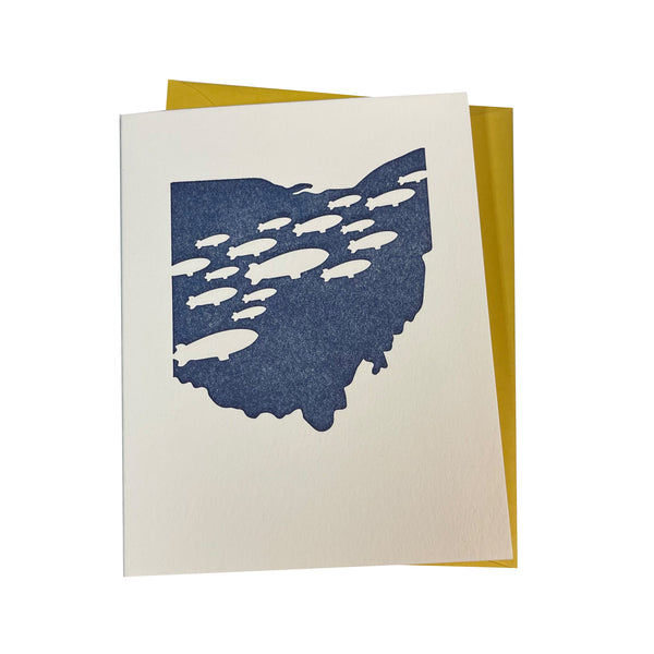 Lovely Somethings Blimp Ohio Card
