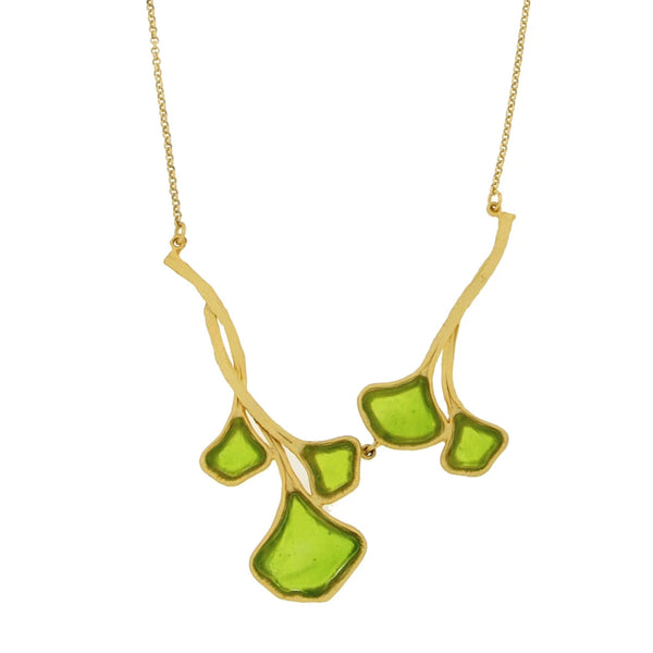 Michael Vincent Michaud Ginkgo Leaf Necklace