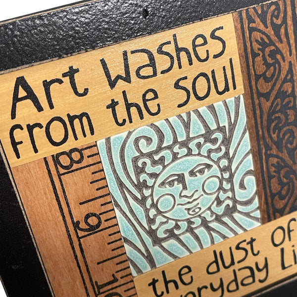 "Macone Clay ""Art Washes"" Collage Plaque"