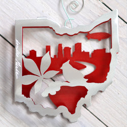 NEW! Akron, Ohio Ornament by Metal Petal