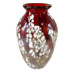 Paul Bendzunas Medium Red Blossom Vase