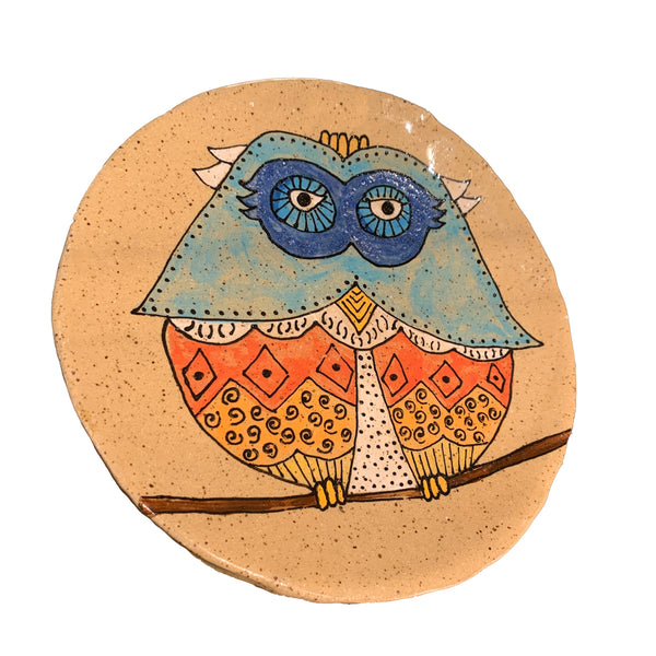 Shelley Giangaspero Round Owl Plate