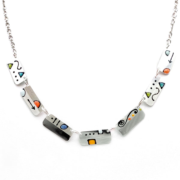 Ann Carol Designs Rectangles Necklace