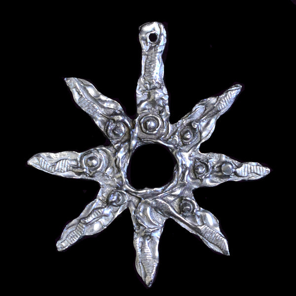 "NEW! Don Drumm Pewter Snowflake Ornament ""A"""