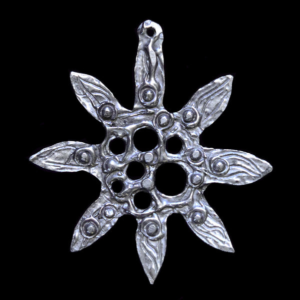 "NEW! Don Drumm Pewter Snowflake Ornament ""B"""