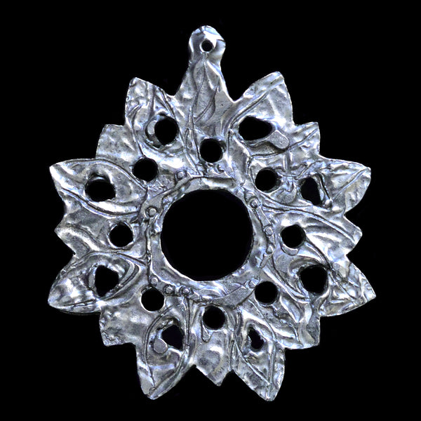 "NEW! Don Drumm Pewter Snowflake Ornament ""C"""