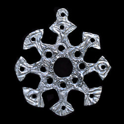 "NEW! Don Drumm Pewter Snowflake Ornament ""E"""