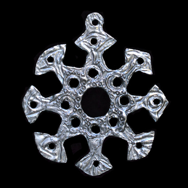 "Snowflake Ornament ""E"""