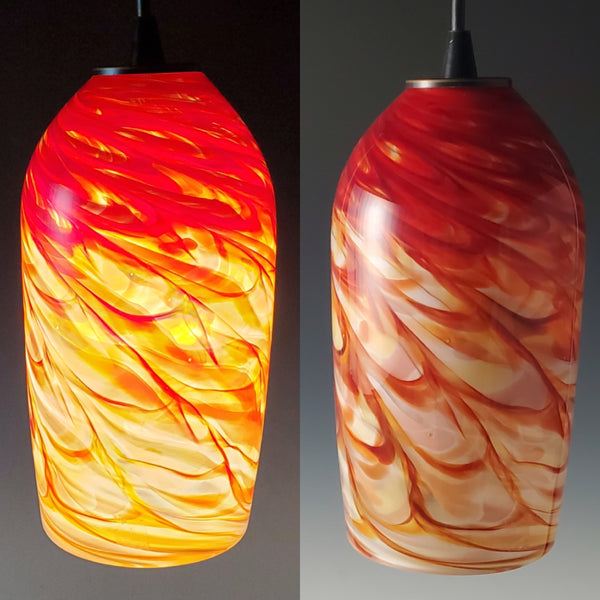 Rosetree Glass Studio Cylinder Optic Pendant Lamp