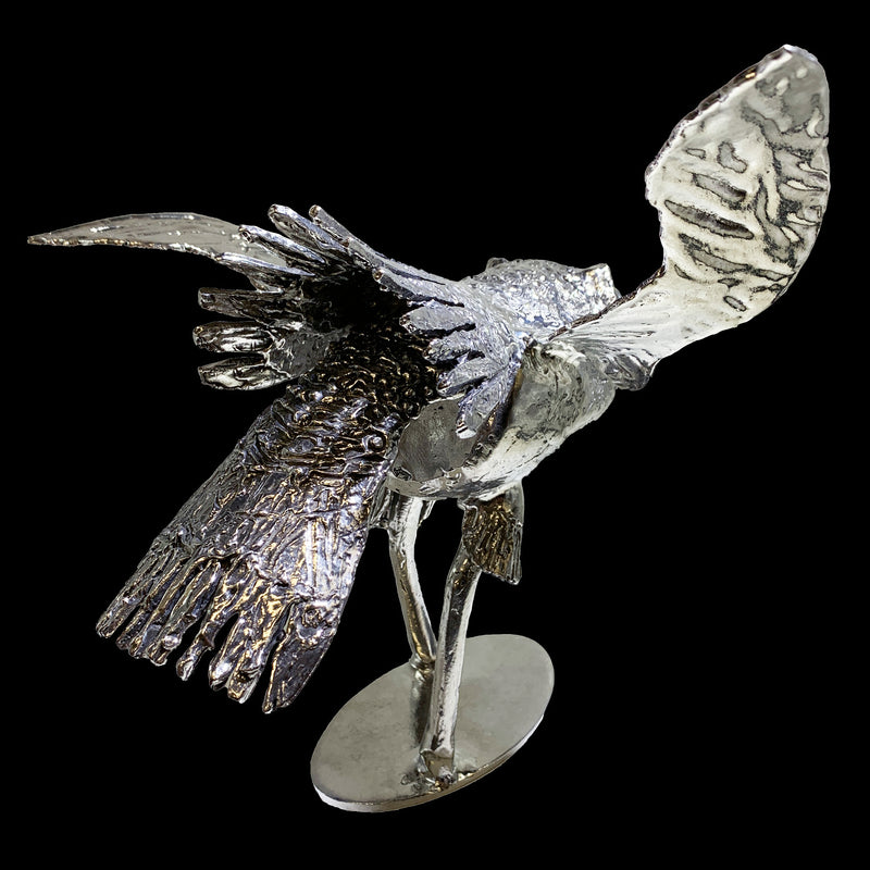 NEW! One of a Kind Owl in Flight Sculpture