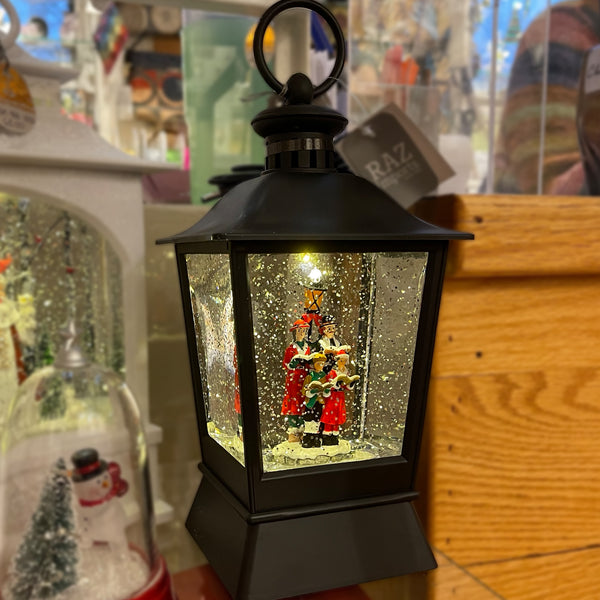 Snow Globe Lantern with Carolers