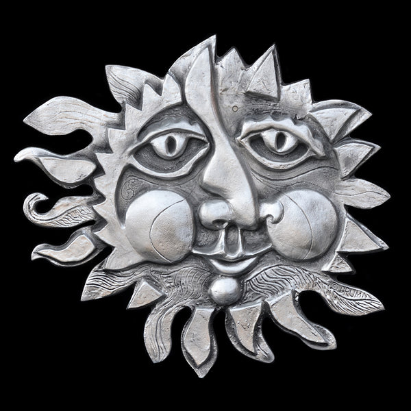 Large Classic Sun Face Wall Sculpture