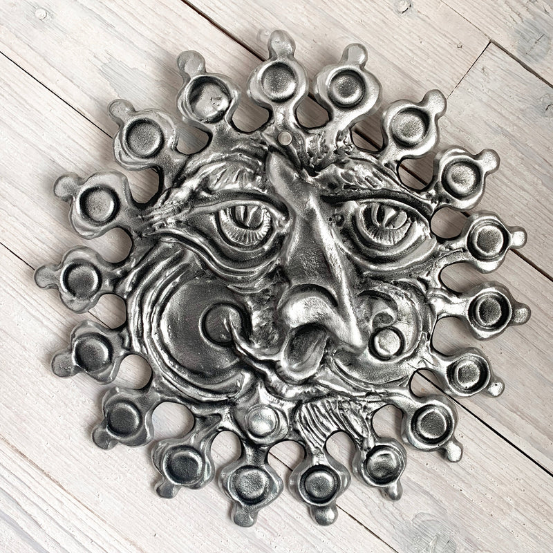 NEW! Don Drumm Aluminum Sun Face Wall Hanging with Round Rays