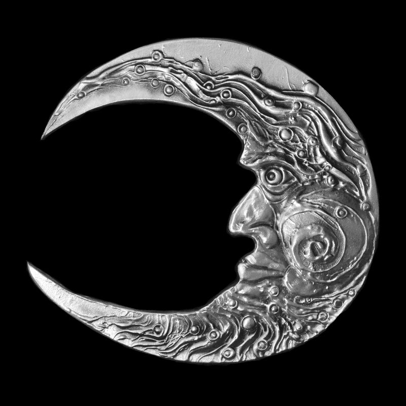 Large Abstract Aluminum Moon