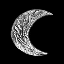 Don Drumm Small Aluminum Moon