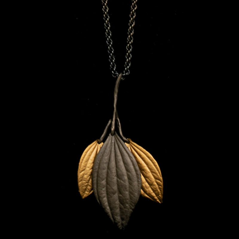 Silver Seasons Piper Long Leaf Necklace