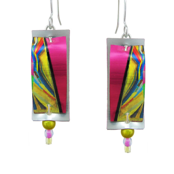 "Leni Singerman ""Anew"" Abstract Earrings"