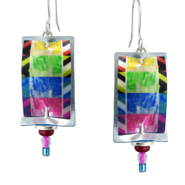 "Leni Singerman ""Artesia"" Patchwork Earrings"