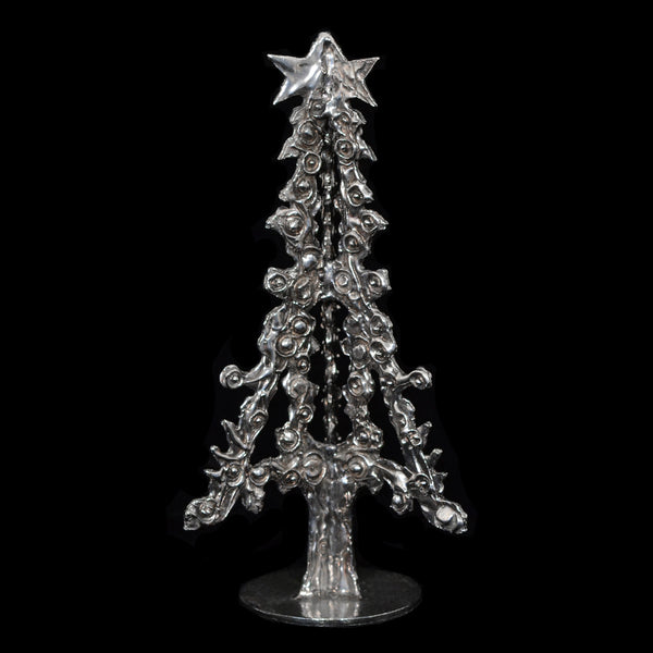 "NEW! Don Drumm Pewter Tree ""E"""