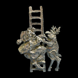 NEW! Santa on Ladder with Reindeer