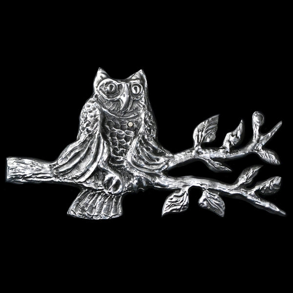 Owl On a Branch Wall Hanging