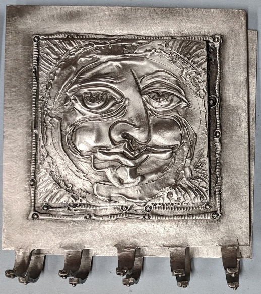Sun Face Tile 5 Hooks Key Holder
