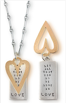 "Kathy Bransfield ""LOVE"" Heart Necklace"