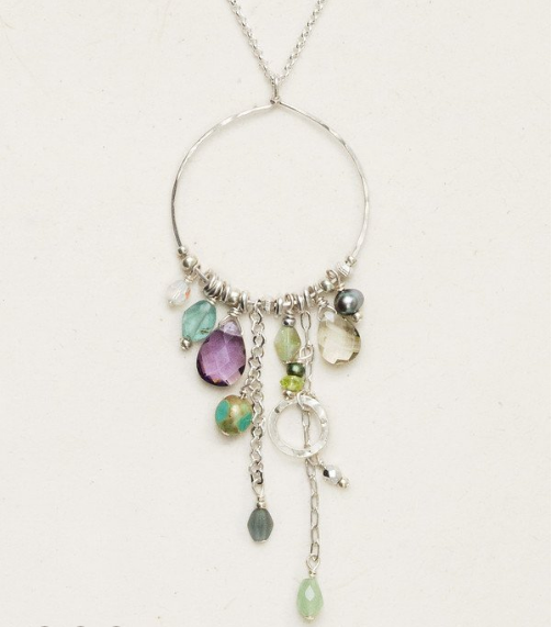 Holly Yashi Bead & Chain Hoops Necklace
