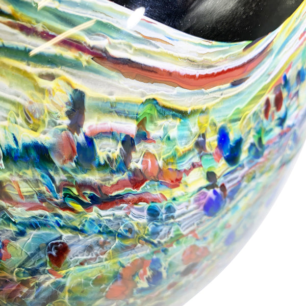 Grateful Gathers Glass - Lithosphere Series: Ocean Forest Large Flat