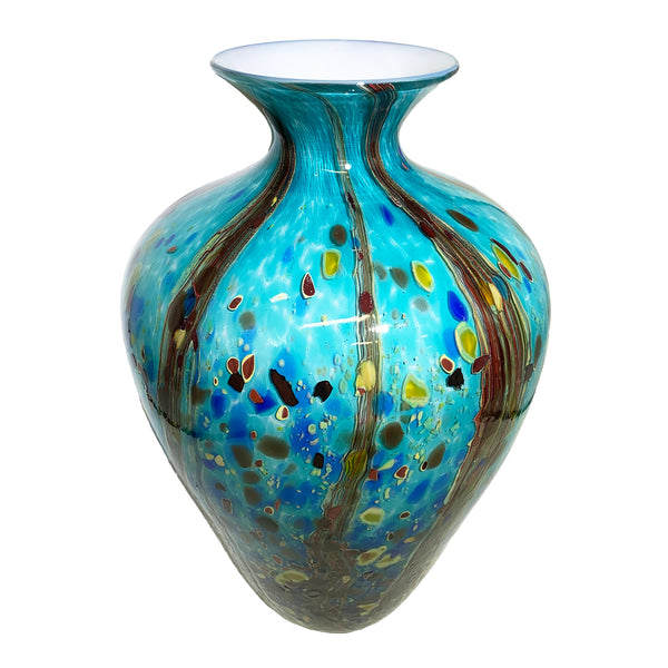 Grateful Gathers Glass - Reactive Series: Ocean Forest Large Amphora
