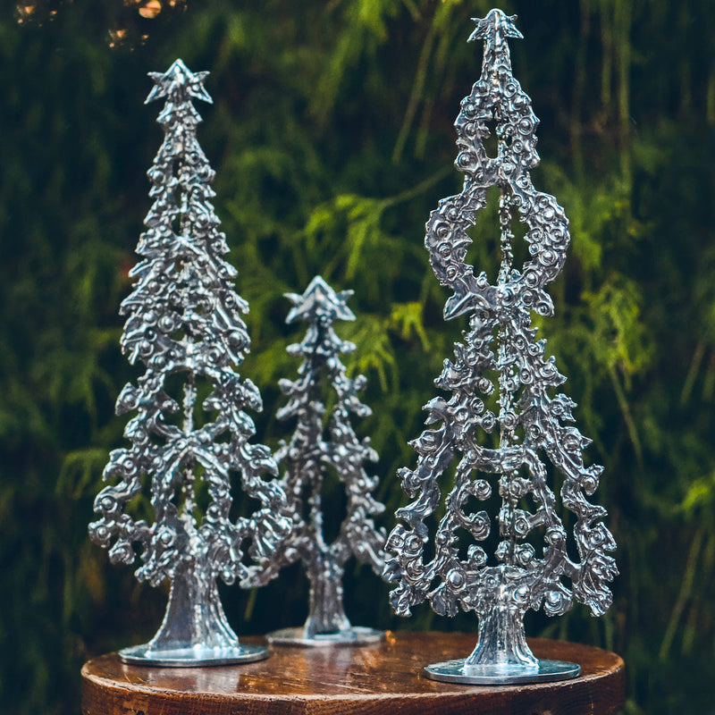 "NEW! Don Drumm Pewter Tree ""D"""