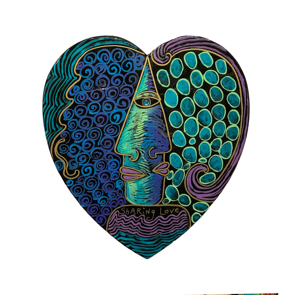 "Rokoko Art ""Sharing Love"" Heart Wall Hanging"