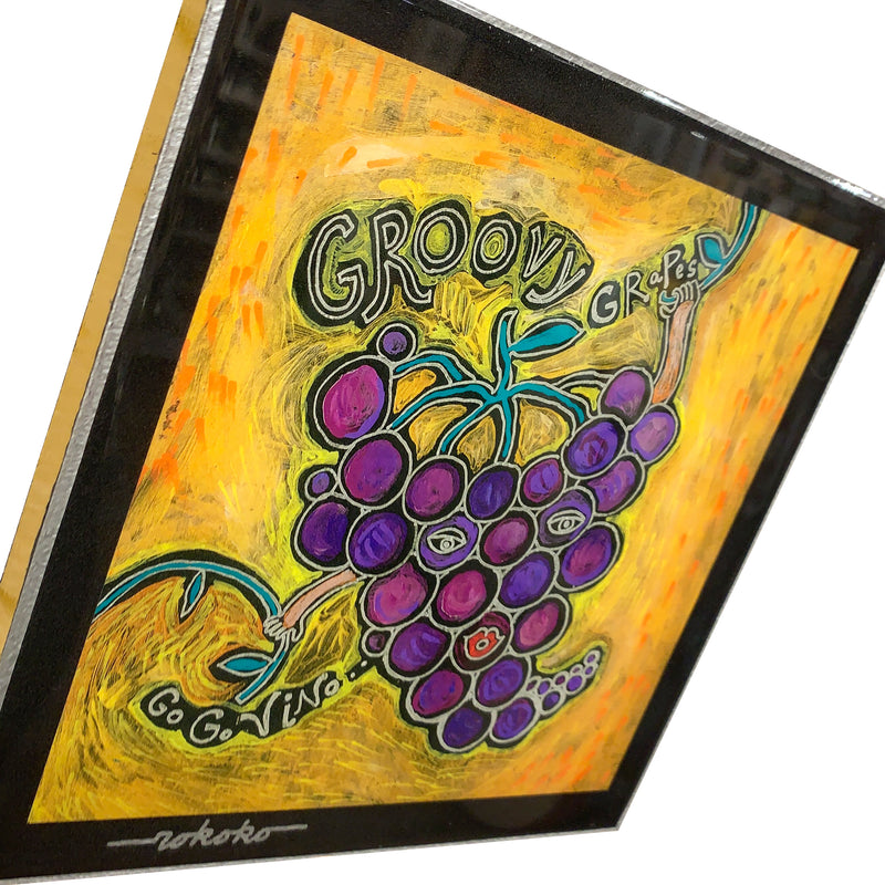 "Rokoko Art ""Groovy Grapes"" Wall Hanging"