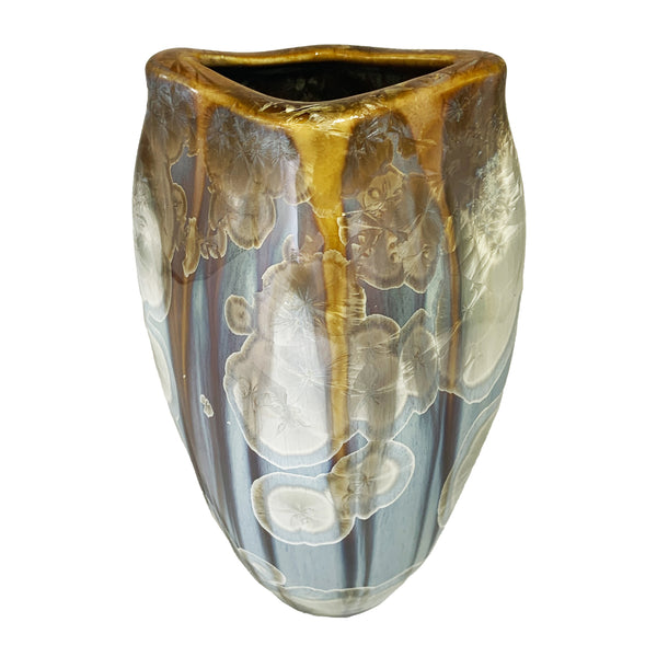 Flambeaux Art Pottery Stellar Wide Mouth Fish Vase