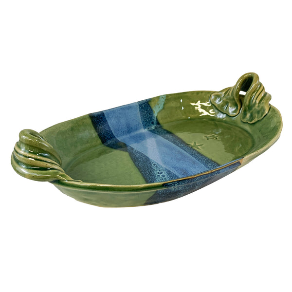 Mosquito Mud Pottery Bowl with Handles