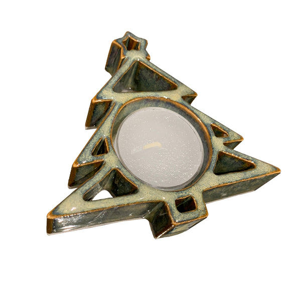 Bay Pottery Christmas Tree Tealite