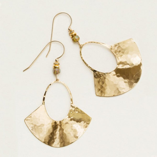 Holly Yashi Davina Hammered Fan Earrings