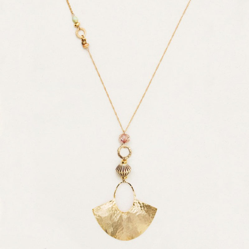 Holly Yashi Davina Hammered Fan Necklace
